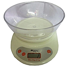 Digital Kitchen Scale - Cream