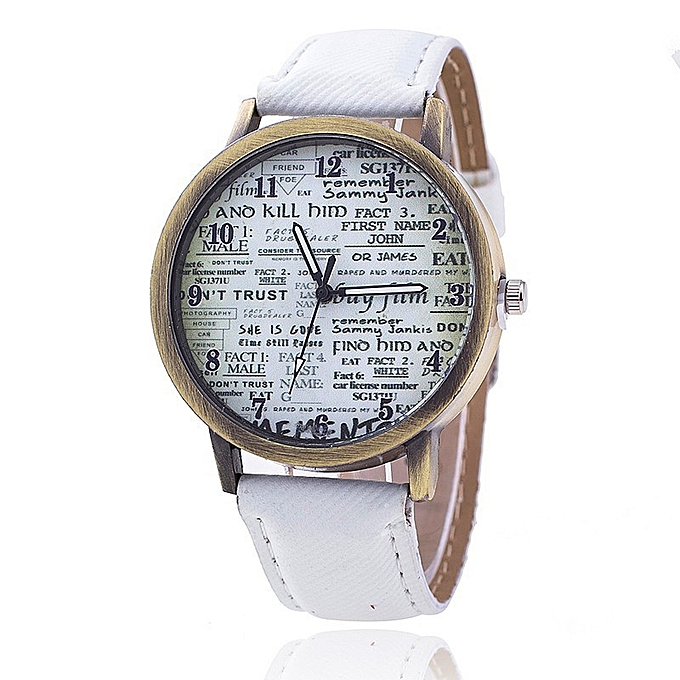 Reply the old English newspaper cowboy canvas wrist form men