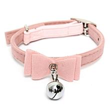 Puppy Pet Collar kitten Velvet Fashion Cat Safety Bowtie With Bell Bow Tie Neck