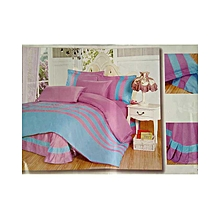 Stripped Duvet Cover Set - 5x6 - Pink/Blue