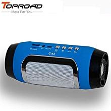 Enjoy HIFI Portable wireless Bluetooth Speaker Stereo Soundbar TF FM Radio Music Subwoofer Column Speakers for Computer Phones
