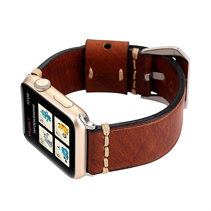 e4a2ce2aa0d Retro High-Quality Leather Strap Replacement Watch Band For Apple Watch 42mm