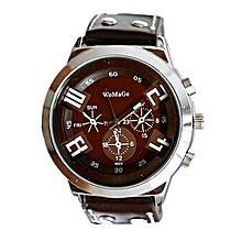 Blicool Wrist Watch Fashion Unisex Leather Band Analog Quartz Vogue Wrist Watch Watches BW-brown