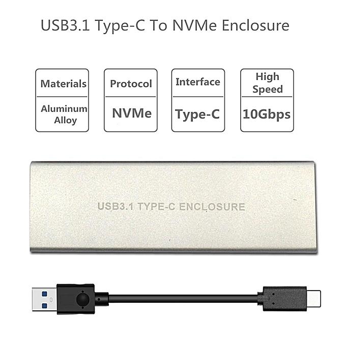 ITHOO NVME USB3 1 TO PCI-E NVNE NGFF SSD HDD Enclosure C3 1 M 2 to USB