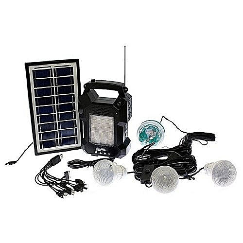 Gdl Gd 8050 Solar Lighting System Kit With 3 Led Lights