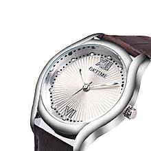 New Unisex Watches Quartz Trendy Wrist Watch Stainless Steel Watches-Silver
