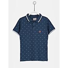 Boy Blue Printed Regular Polo T-Shirt