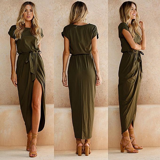 164328206c Fashion Women Boho Long Maxi Dress Evening Party Beach Dresses ...