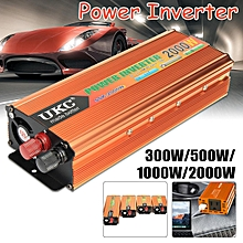 Power Inverter 4000W Peak Surge Power Car Boat 12V to 220V Adapter Converter NEW
