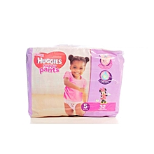 Girls Pants Size 5 (12 -17kg) - 32 Diapers