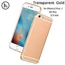 Clear Transparent Crystal Soft TPU Cover Case For 5.5 Inch IPhone 6 Plus 6S Plus - Transparent Gold