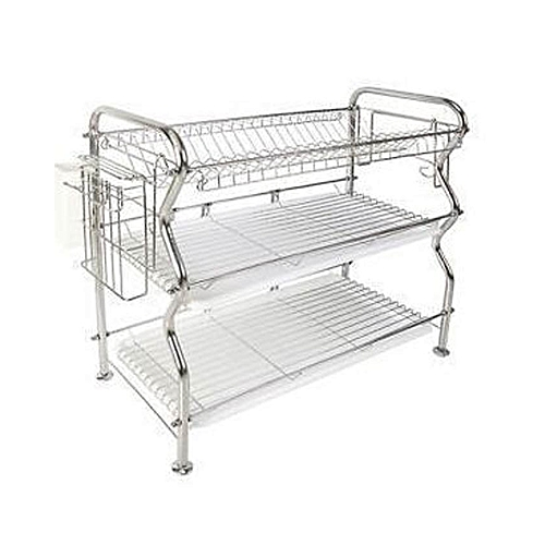 Dish Rack.3 Tier Stainless Steel Dish Drainer