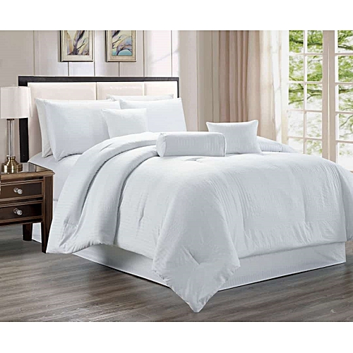 Buy Egyptian Cotton White Cotton Duvet Cover Set At Best Price