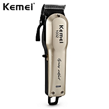 KM - 1032 Adjustable Cordless Powerful Motor Hair Clipper with 4 Guide Comb-GOLD