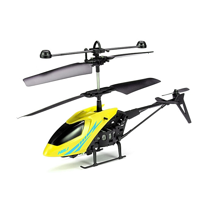 MJ 2CH Remote Control RC Helicopter With Gyro Yellow