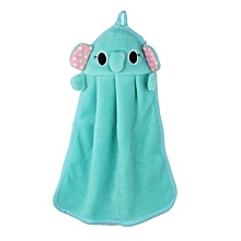 Cartoon Hanging Wipe Towel Soft Bathing Toilet Nursery Hand Towel Blue