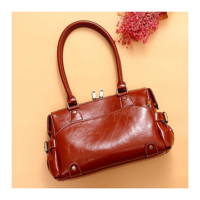 Women Genuine Leather Cowhide Vintage Designer Handbag Shoulder Bag a9393be6f5d48