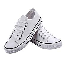 Dunk Low Fashion Canvas Sneaker Shoes-White/Black