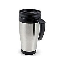Silver Stainless Steel Vacuum Coffee Tea Travel Mug