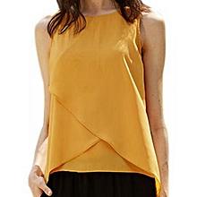 Women's Chiffon Tank Top - Yellow