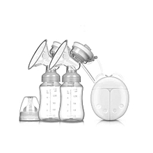Double Powerful Nipple Suction USB Electric Breast Pump - 150ml