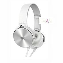 JBLXB-450 Extra BASS Headphones - Silver&white