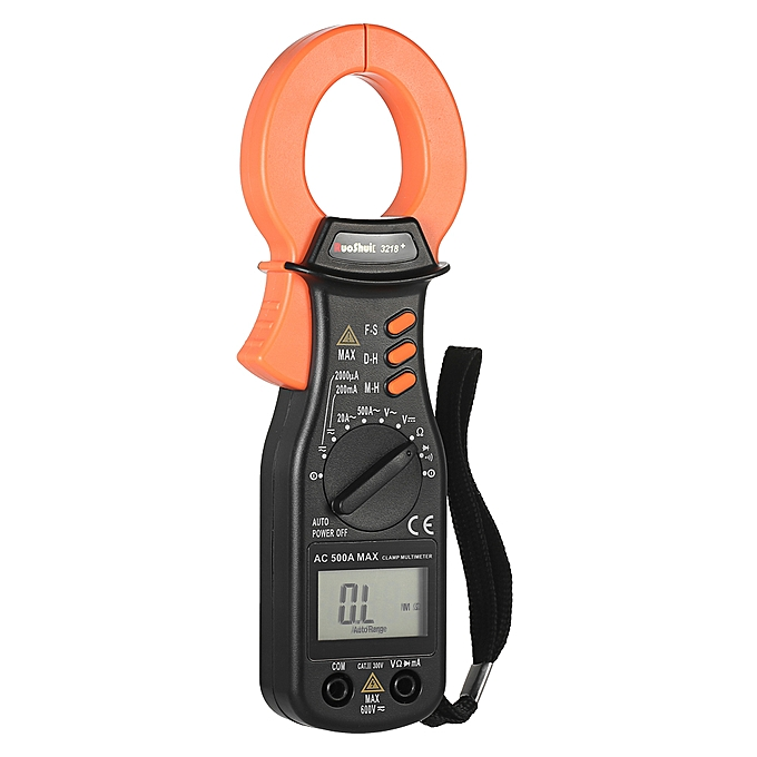 RuoShui 1999 Counts Digital Clamp Meter AC/DC Voltage Current Auto Range  Portable Handheld LCD Diaplay Auto-ranging Clamp Multimeter Resistance  Diode