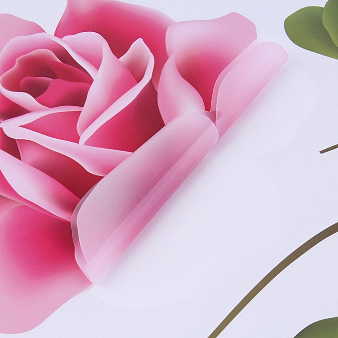98cb6bd49 ... 3D Rose Flower Romantic Love Wall Sticker Removable Decal Home Decor  Living Room Bed Decals Mother s