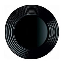 6pcs Harena Tempered Black Dessert Side Plate 25cm.