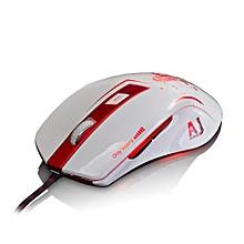 AJ100 Wired Mouse 6 Keys A98001600/3200/6000/8200 DPI Custom Colorful Breathing 16-million LED Professional Game Mouse Home Office HT