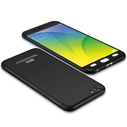 new product 23c54 ac5c1 For Oppo F1s Case 360 3in1 Full Protection Hard Casing Back Cover For Oppo  F1s Housing Shell 264544 (Black)