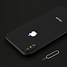 For iPhone X Rear Camera Lens Protection Ring Cover with Tray Eject Tool Needle(Black)