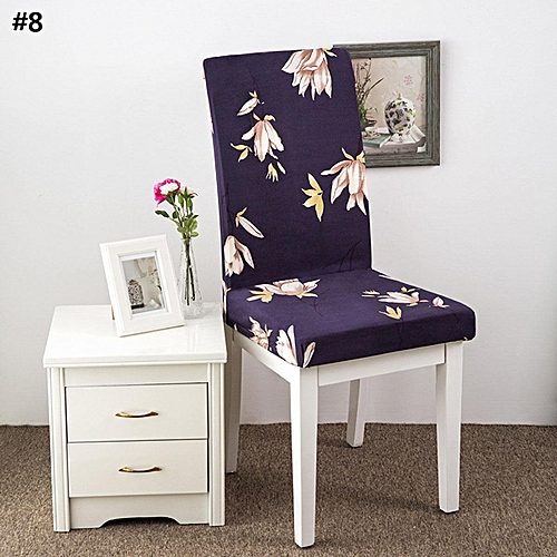 Buy Generic KCASA WX PP6 Elegant Flower Landscape Elastic Stretch Chair Seat Cover Dining Room Home Wedding Decor Best Price