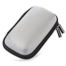 Portable Earphones Accessory Storage Zipper Box-GRAY