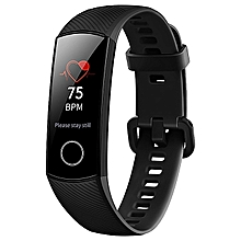 Honor Band 4 Smart Bracelet 0.95 Inch AMOLED Touch Large Color Screen 5ATM Heart Rate Monitor - Black