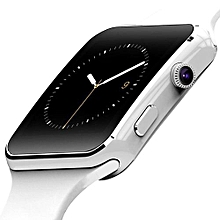 Bluetooth Smart Watch For Apple IPhone Android Phone With Camera Support SIM TF Card White