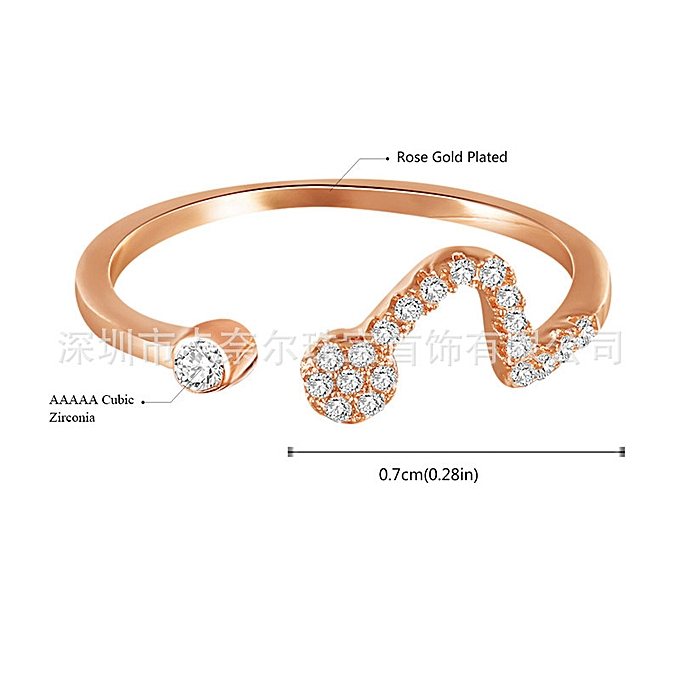 5dc507d29 ROXI 12 Constellation Ring Leo Rose-plated Diamond Lady Open Ring-Libra >  adjustable