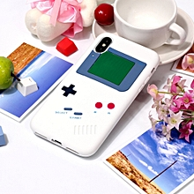 Game Boy Pattern Silicone Protective Case for iPhone X / XS (White)