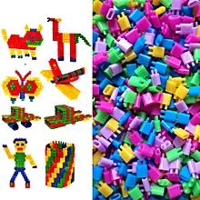 150PCS/Lot Plastic Bullet Building Blocks DIY Creative Puzzle Toy For Children Educational Compatible Bullet Building Brick Toys Multicolor