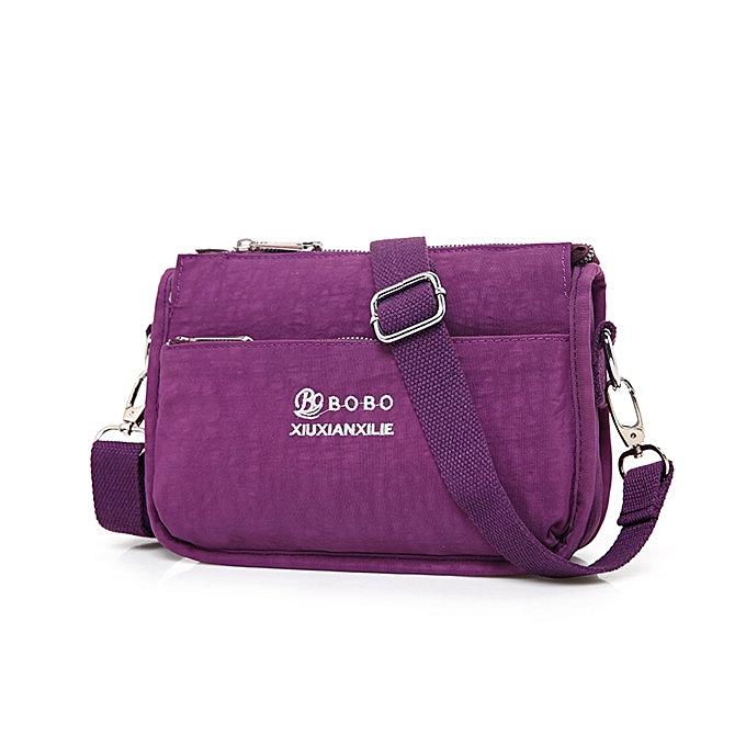 9328e1a51e6 Women Nylon Light Messenger Bags Casual Shoulder Bags Front Pockets  Waterproof Crossbody Bags