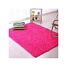 Fluffy Rug Anti-Skid Shaggy Area Rug Dining Room Carpet / Bed Side Carpet Floor Mats 5ftx8ft -Pink