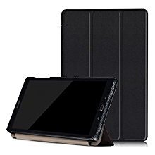 "For Samsung Tab A 10.1"" Case, Ultra Slim Case + PU Leather Smart Cover Stand Auto Sleep/Wake For Galaxy Tablet SM-P580N P585N, Black"