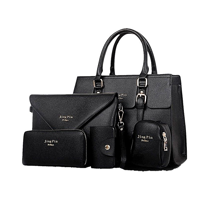 e148b7140625 Jing Pin 5 in 1 Handbag Set Black   Best Price
