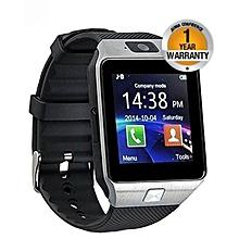 """DZ09 - 1.56"""" Smart Watch - 128MB ROM - 64MB RAM - 0.3MP Camera - SIM - Silver Black"""