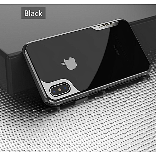 the best attitude d43c0 cb031 Apple iPhone X Case , iPAKY Armor Electroplated Bumper Frame + Transparent  TPU Back Cover ROED
