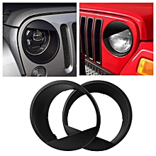 Car Angry Bird Style Front Light Headlight Trim Cover for Jeep Wrangler JK 2007-2018 (2 Doors / 4 Doors)