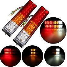 2Pcs 12V LED Brake Light Rear Lamp Rear Indicator For Truck Trailer Caravan