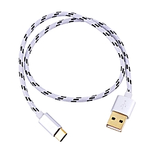 Type C Braided Data Sync Charging USB 3.1 Cable 0.5M Gray