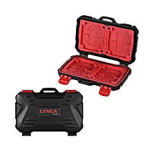 LYNCA KH 10 Water-resistant CF/SD/SDHC/TF/MSD Memory Card Case Box Keeper Carrying Holder Storage Organizer 24 Slots for Sandisk Transcend Lexar Kingston