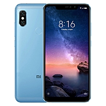 Redmi Note 6 Pro, 3GB+32GB, Global Official Version, Dual AI Rear Cameras + Dual Selfie Cameras, Face ID & Fingerprint Identification, 6.26 inch Screen MUMI 9.0 Qualcomm Snapdragon 636 Octa Core up to 1.8GHz, Network: 4G,  Dual SIM(Blue)